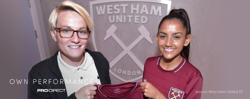 Rosie was the first player to sign for West Ham Women on a pro contract.