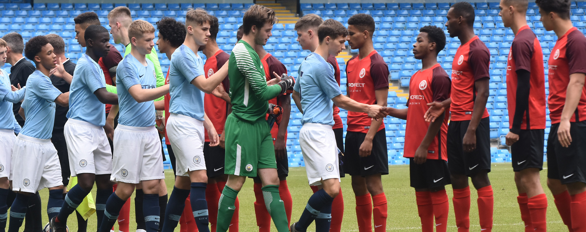 Pro:Direct Academy Select Squad take on Manchester City U19s at The Etihad Stadium