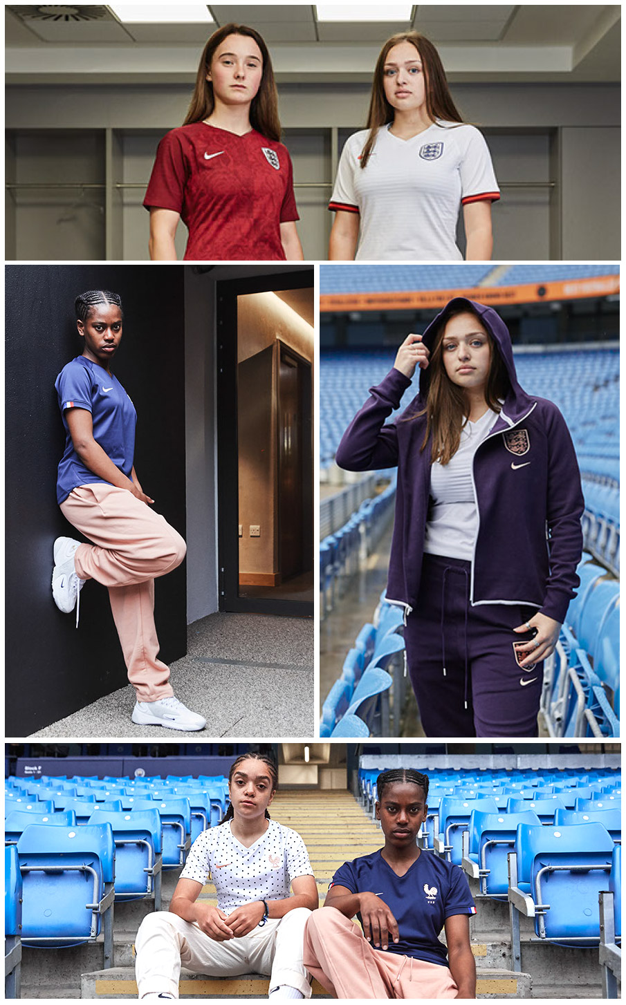 Pro DIrect Academy girls modeling Nike world cup kits