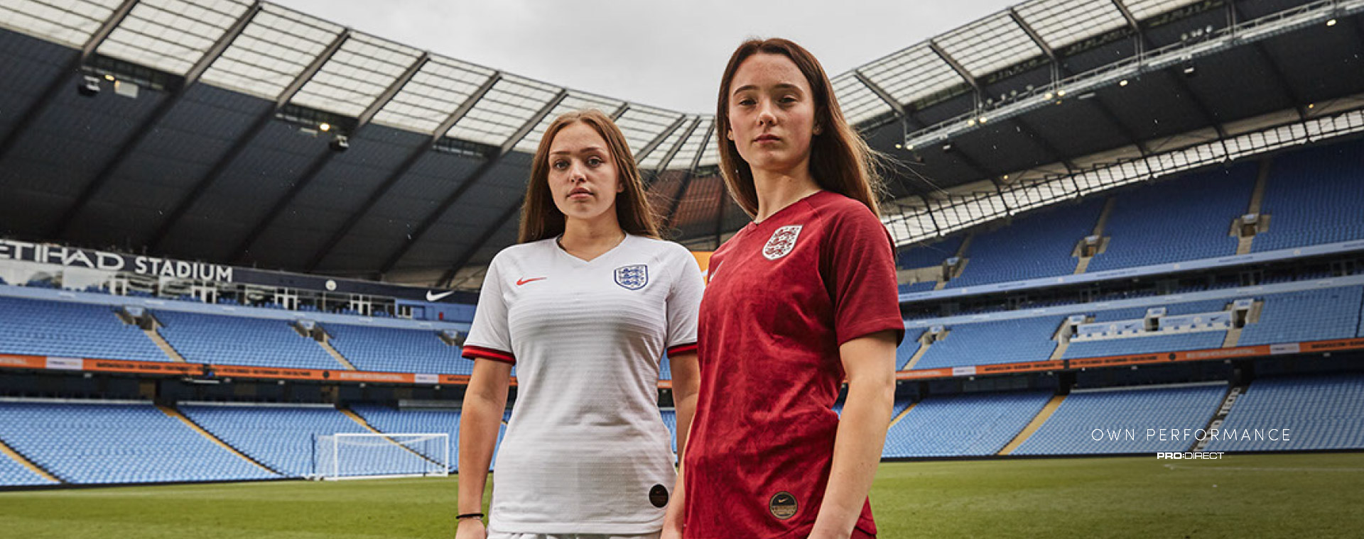 Pro Direct Academy girls model World Cup kits