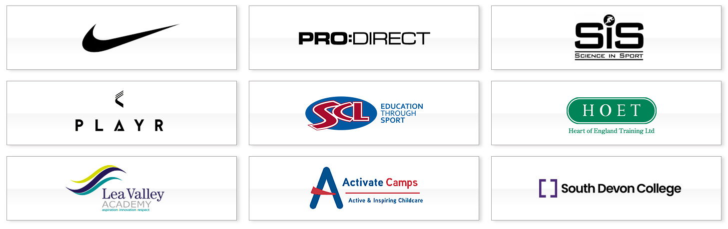 Pro:Direct Academy Partners include Nike, Pro:Direct, Science In Sport & PLAYR
